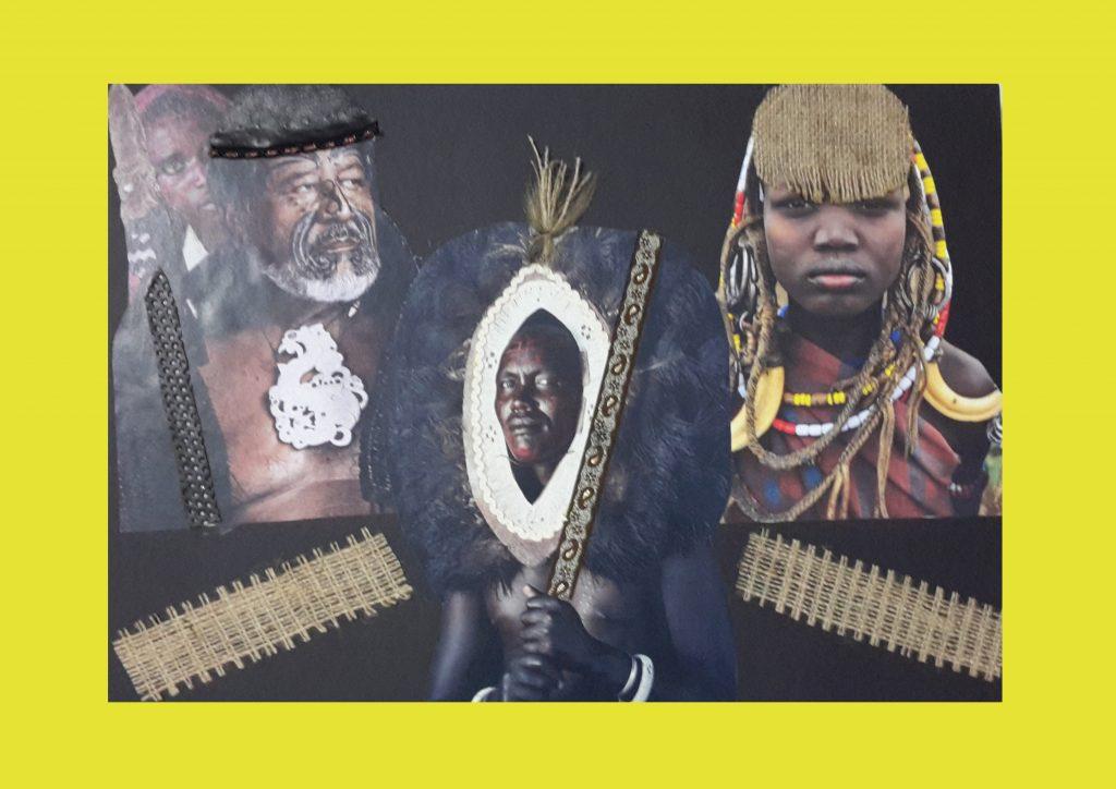 hikaye panosu / kabile sanatı