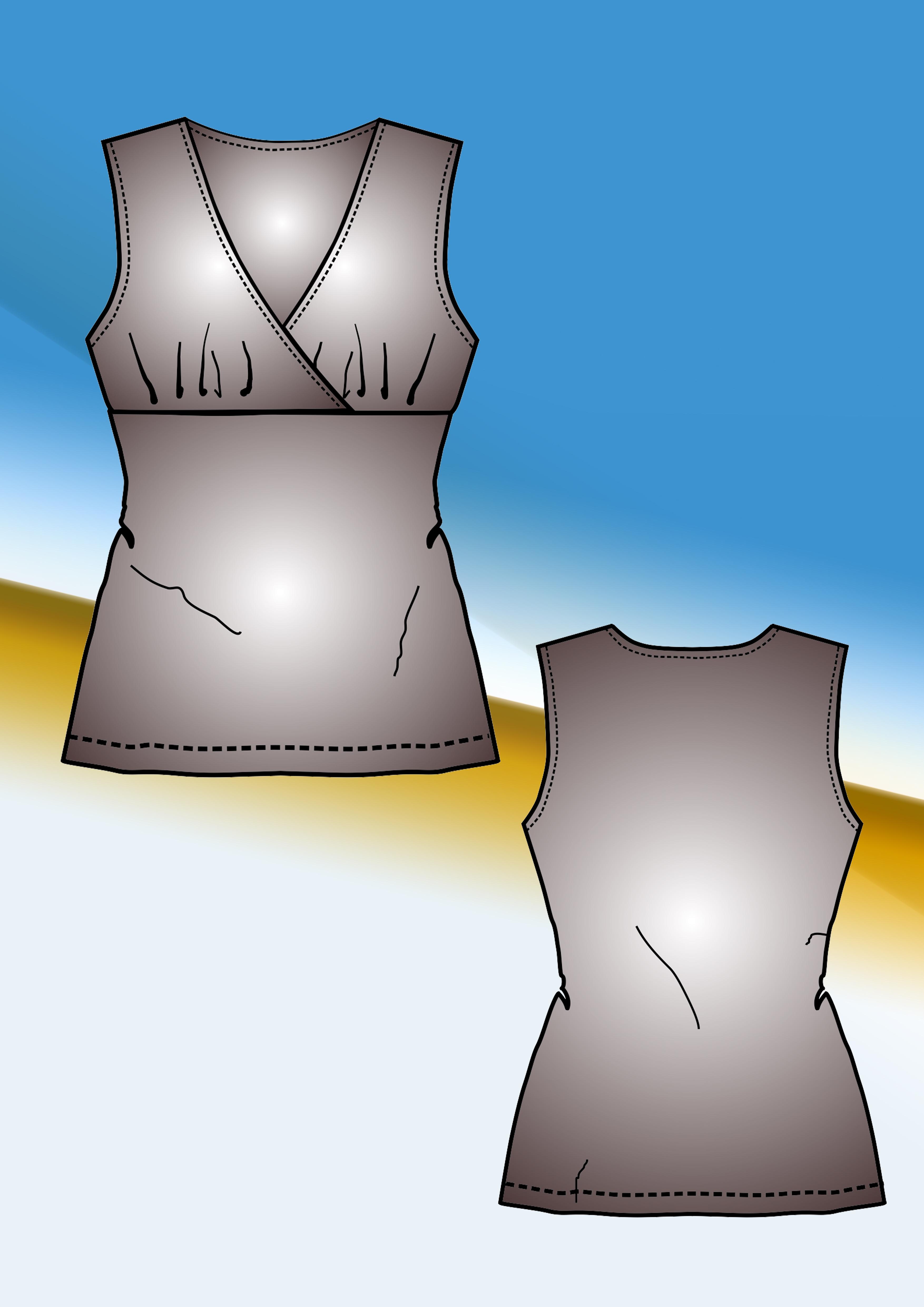 Temel Beden Üzerinden Model Uygulama – Önü Kravuze Bluz