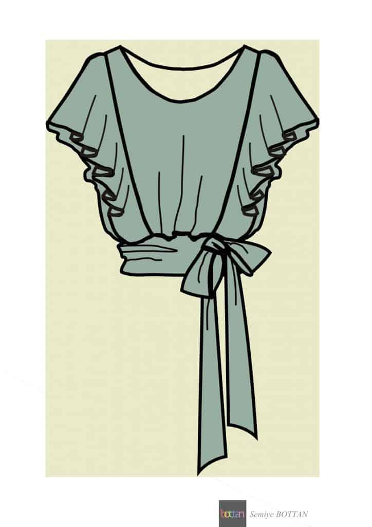 volanlı bluz