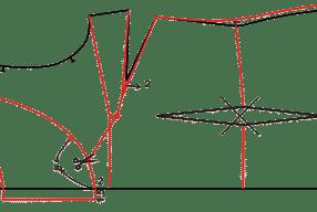 Temel Beden Üzerine Model Uygulama – Önü Robalı Karpuz Kollu Bluz