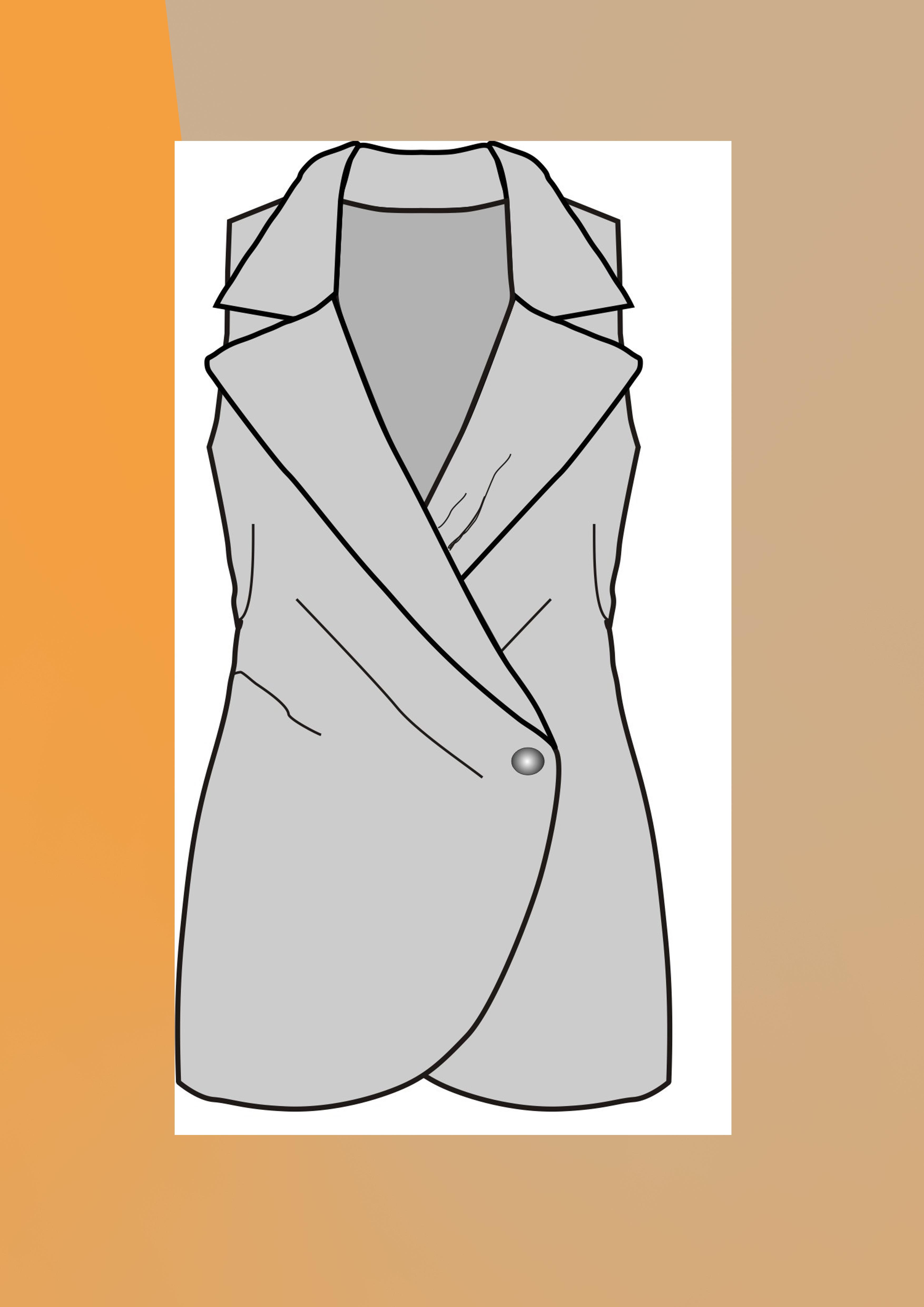 Bluz, Elbise, Ceket, Kaban, Mont (Üst Grup) Model Çizimleri
